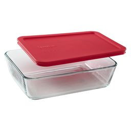 Simply Store™ 6 Cup Rectangle Container with Red Lid