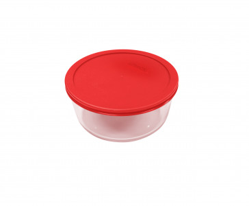 Simply Store™ 2 Cup Round Container with Red Lid
