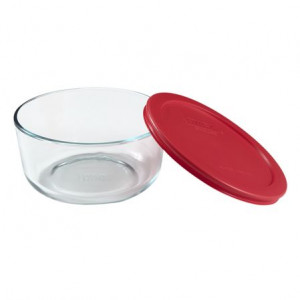 Simply Store™ 4 Cup Round Container with Red Lid