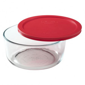 Simply Store™ 7 Cup Round Container with Red Lid