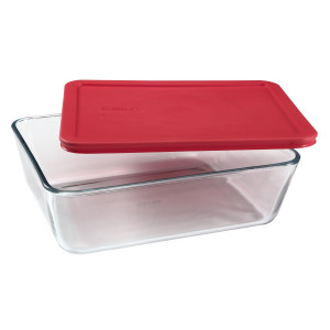 Simply Store™ 11 Cup Rectangle Container with Red Lid