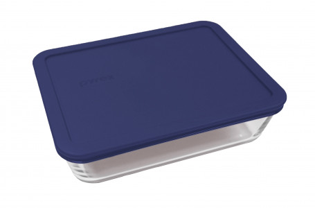 Simply Store™ 6 Cup Rectangle Container with Blue Lid