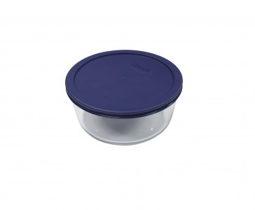 Simply Store™ 2 Cup Round Container with Blue Lid