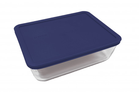 Simply Store™ 11 Cup Rectangle Container with Blue Lid