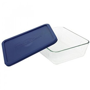 Simply Store™ 3 Cup Rectangle Container with Blue Lid
