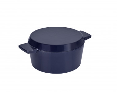 Cast Iron French Oven Mid Blue 24cm