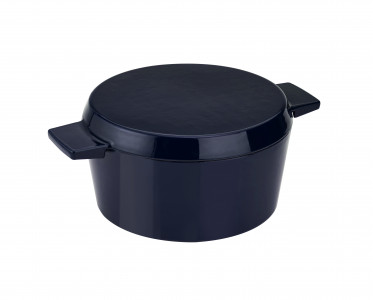 Cast Iron French Oven Mid Blue 28cm