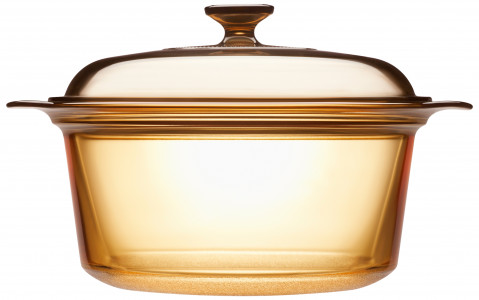 3.5L Covered Stockpot - Amber