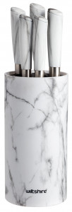 Marble Knife Block 6 Pieces